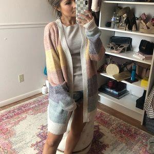 Sweaters - Colorblock Cardigan